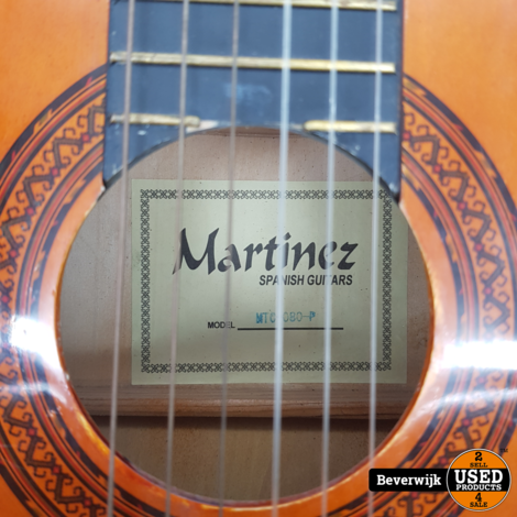 Martinez MTC-080-P Spaanse Gitaar - In Goede Staat