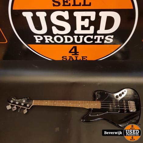 Squier Vintage Modified Jaguar Bass Special, Black Bas Gitaar - Zeer Nette Staat