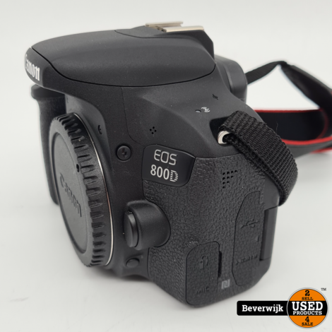 Canon EOS 800D Body Digitale Fotografie + extra accu's - 4 Jaar garantie