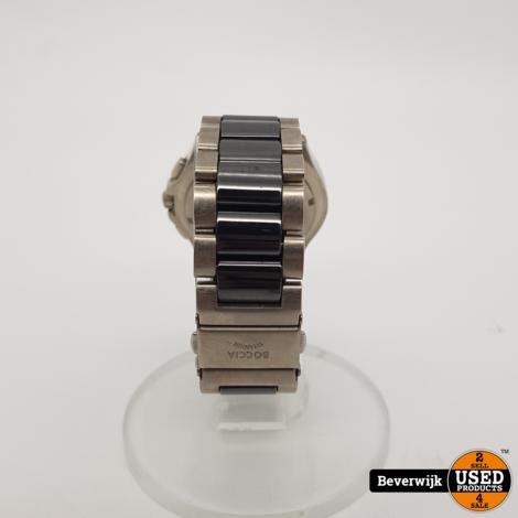 Boccia 3765 02 Titanium Ceramic Heren Horloge - In Goede Staat