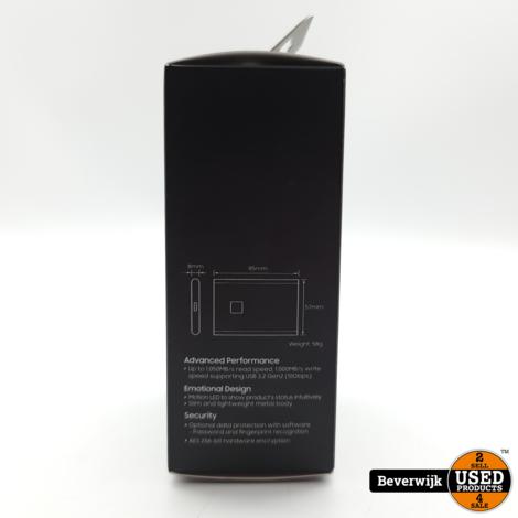 Samsung T7 SSD 2TB Externe SSD Met Vingerafdruk - NIEUW