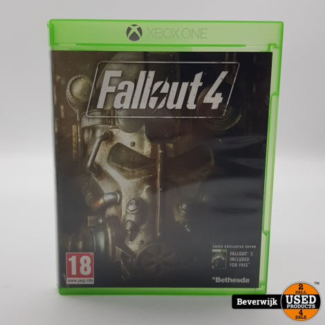 Fallout 4 Microsoft Xbox One Game - In Nette Staat
