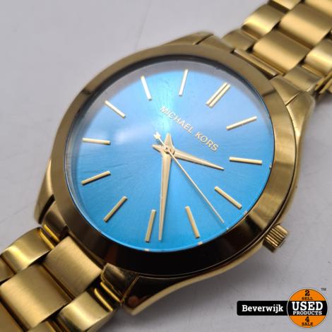 Michael Kors MK3265 Gold Blue - In Nette Staat