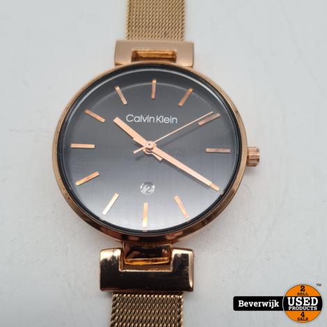Calvin Klein 1367 Horloge Rose Gold Black - In Nette Staat