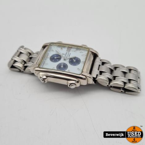 Festina Horloge F6561 Blauw Wit Zilver - In Goede Staat
