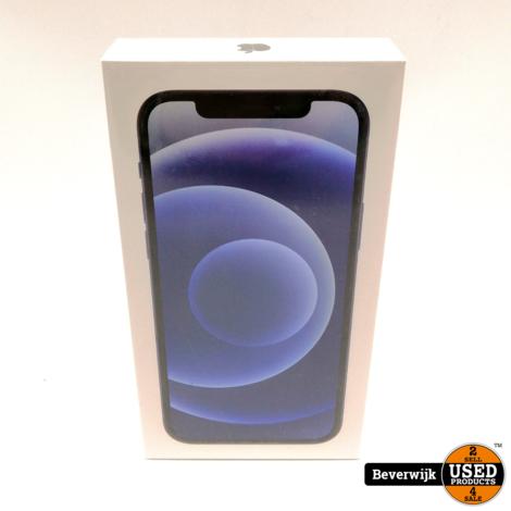 Apple iPhone 12 128 GB Black 5G - Nieuw in Seal