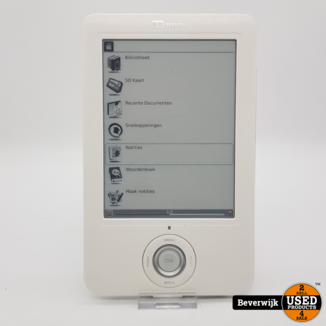 BE Book NEO E-reader Wit - In Nette Staat
