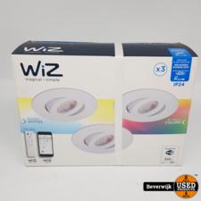 WiZ Colors inbouwspots RUNE - 3 stuks - IP24 - met afstandsbediening WiZmote - Wit