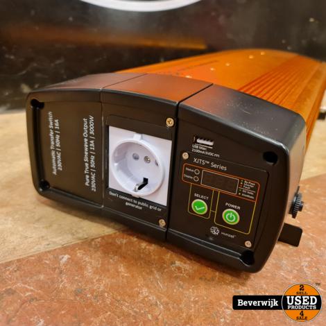 XUNZEL Omvormer XJ3000W 12V-230VDC-230VAC 3000W met 5V 2,1A USB uitgang - NIEUW