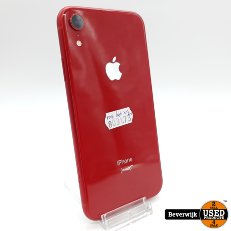 Apple iPhone XR 64GB Red Accu 89% - In Nette Staat