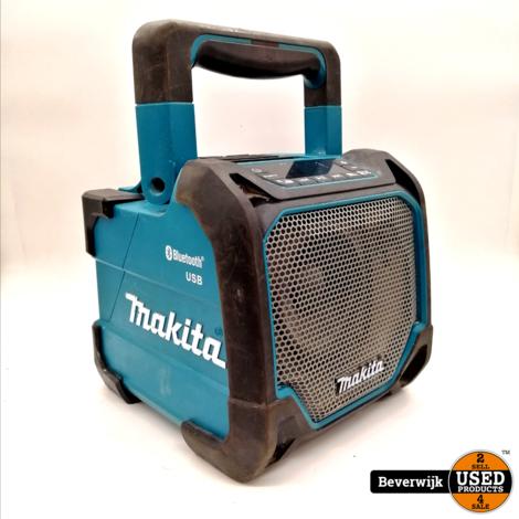 Makita DMR202 Bluetooth Speaker IP64 Met USB Poort in Goede Staat