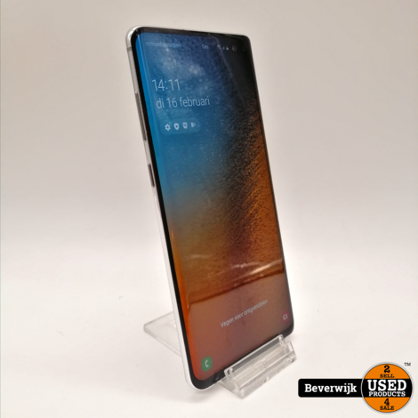 Samsung Galaxy S10 Plus 128GB Wit - In Nette Staat