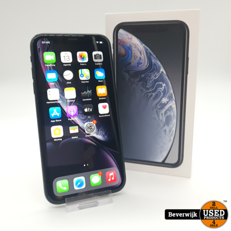 Apple iPhone XR 64GB Zwart Accu 91% - In Nette Staat