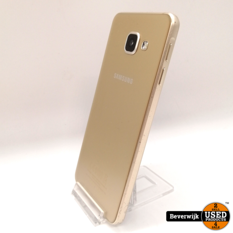 Samsung Galaxy A3 2016 16 GB Goud in Goede Staat