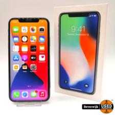 Apple Apple iPhone X 64GB Silver- In Nette Staat