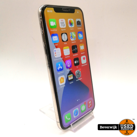 Apple iPhone X 64GB Silver- In Nette Staat