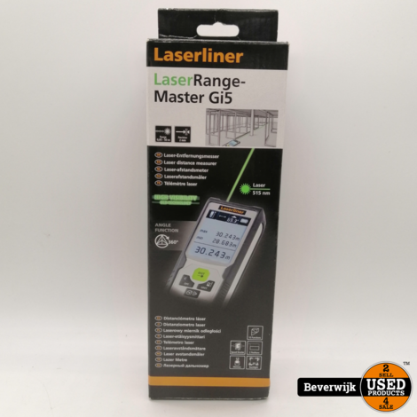 Laserliner LaserRange-Master Gi5 Afstandsmeter - Nieuw!