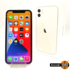 Apple Apple iPhone 11 64 GB Wit - in Nette Staat