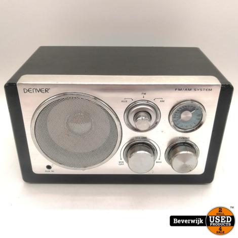 Denver TR-61 - Retro FM Radio Zwart