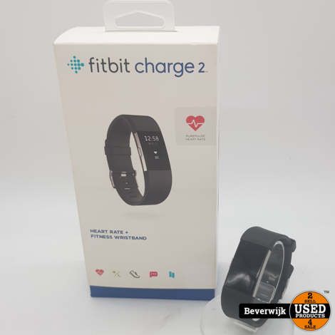 FitBit Charge 2 Zwart in Goede Staat
