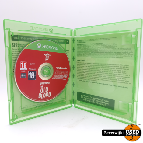 Wolfenstein The Old Blood Xbox one Game - In Nette Staat