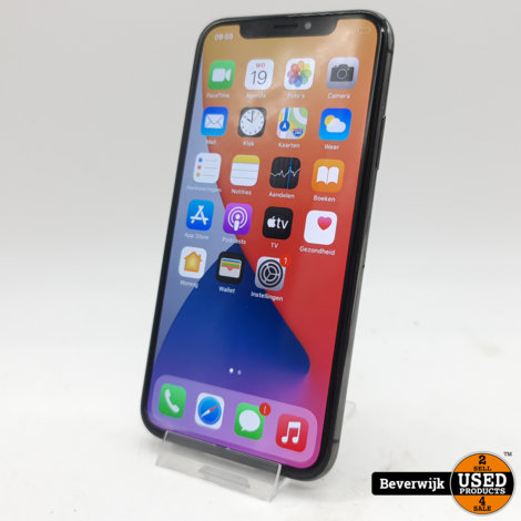Apple iPhone X 64GB Zwart Accu 82% - In Nette Staat