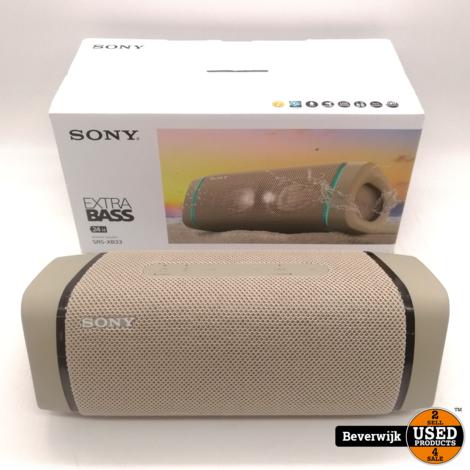 Sony SRS-XB33 Bluetooth speaker - Beige - In Goede Staat