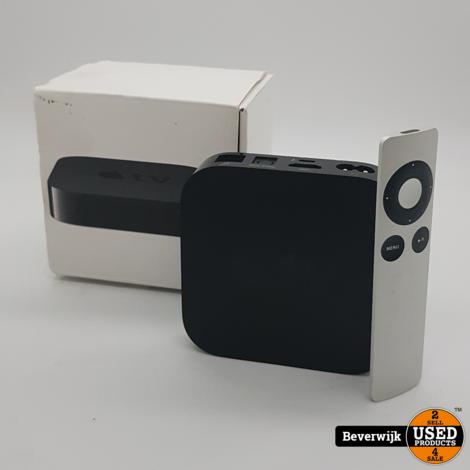 Apple TV 1st Generatie Zwart - Incl. Afstandsbediening - Zo Goed Als Nieuw!
