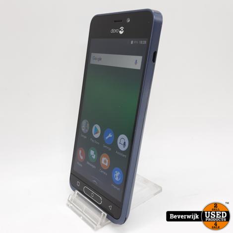 Doro 8035 Senioren Telefoon 16GB Zwart Incl. Hoes - Zo Goed Als Nieuw!