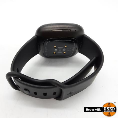 Fitbit Versa 3  Smartwatch Zwart in Goede Staat