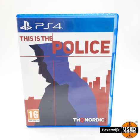 This is the Police PS4 Game - In Nette Staat