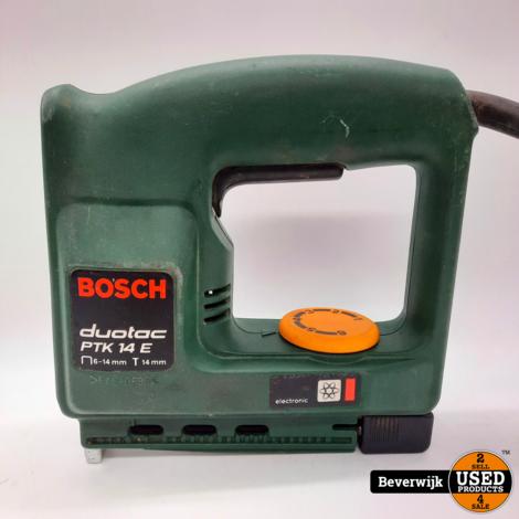 Bosch Duotac PTK 14E Nietmachine - In Goede Staat!