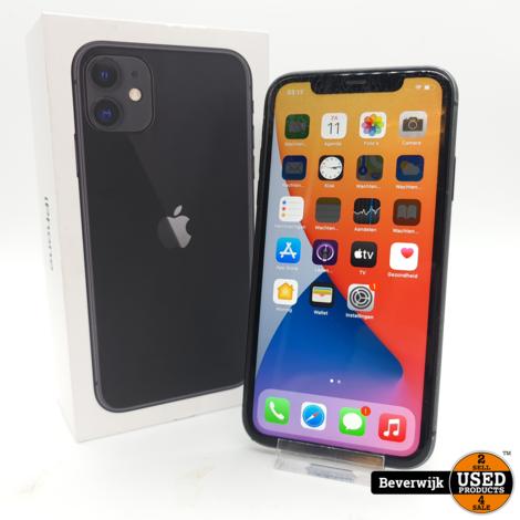 Apple iPhone 11 64GB Zwart - In Goede Staat ( Zie Foto )