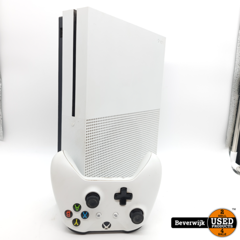 Microsoft Xbox One S 1TB Wit - In Nette Staat