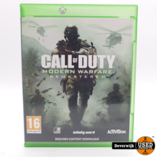 Call of Duty Modern Warfare Remastered Xbox one Game - In Nette Staat