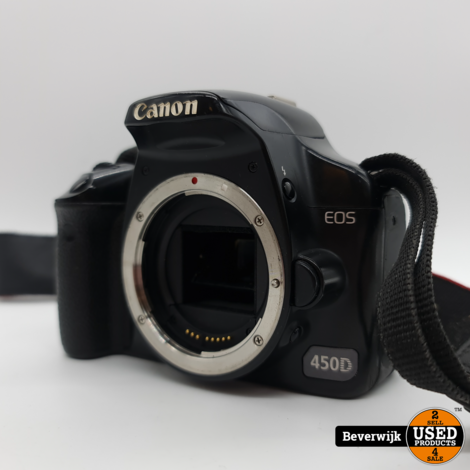 Canon EOS 450D Body excl Oplader - In Goede Staat