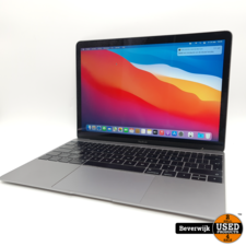 Apple Macbook 12 inch Early 2016 M3 8GB 256GB - In Goede Staat