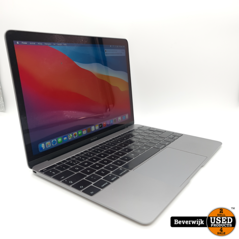 Macbook 12 inch Early 2016 M3 8GB 256GB - In Goede Staat