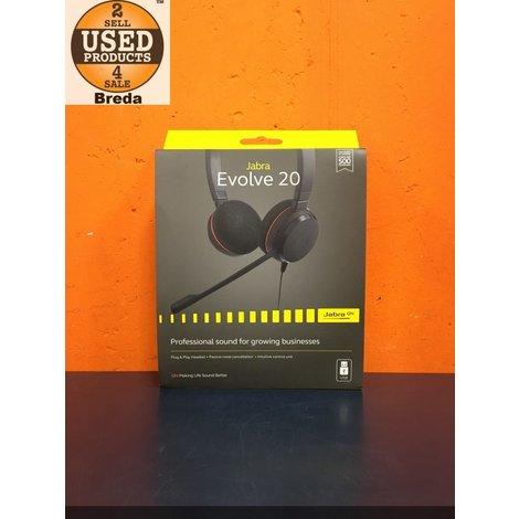 Jabra Evolve 20 Headphone in Doos met Bon |ZGAN|   | Incl. garantie