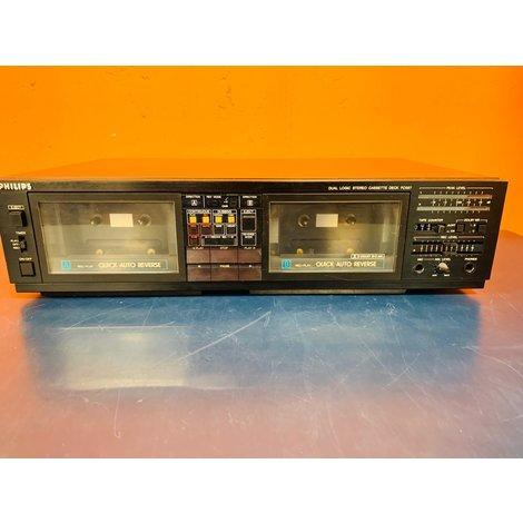 Philips FC567/30R Dubbel Cassette Deck || Uitstekende Staat ||