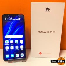 Huawei P30 128GB Pearl zwart kleur | In nette staat