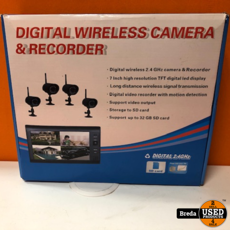 DIGITAL WIRELESS CAMERA EN RECORDER IN DOOS   Incl. Garantie