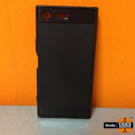 Sony xperia xz Premium chroom met hoesje met white dots in scherm | Incl. garantie