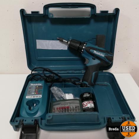 Makita Boormachine met oplader en extra batterij | Incl. garantie