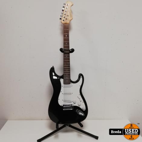 Fan He elektrische gitaar met standaard en tas   Incl. garantie