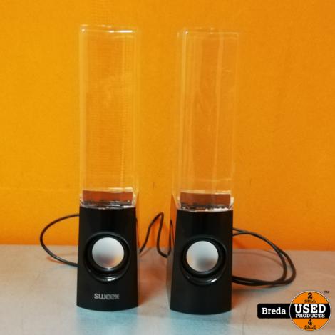 Sweex SW20WDSPS100BL water dance speakers zgan in doos   Incl. garantie