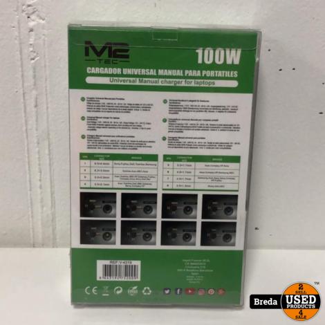 M2-Tec 100W. Universele Adapter Nieuw in Doos | Incl Garantie
