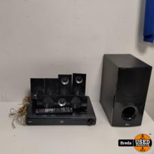 LG Cinema set met sub woofer en 5 speakers en cd speler en afstandbediening | Incl. garantie