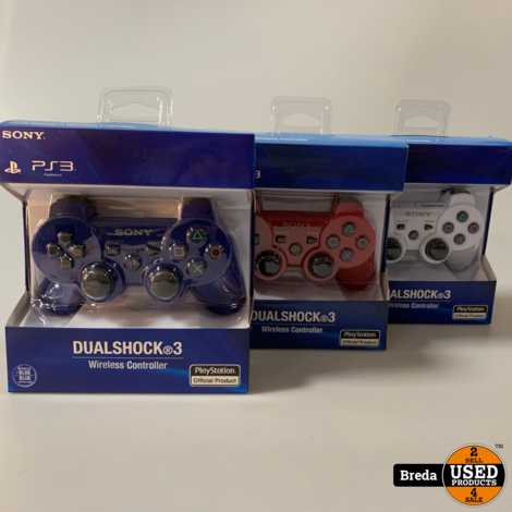 Playstation 3 Controller / PS3 Controller | Blauw/Wit/Rood | NIEUW | Met garantie