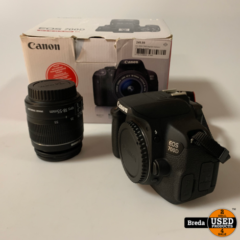 Canon EOS 700D Digitale Camera   18-55 Lens   In doos   Met garantie